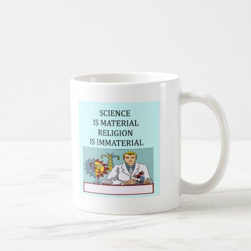 science vs religion joke mug