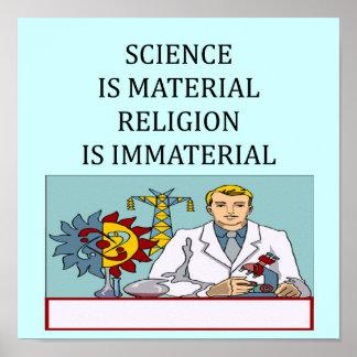 science vs religion joke print