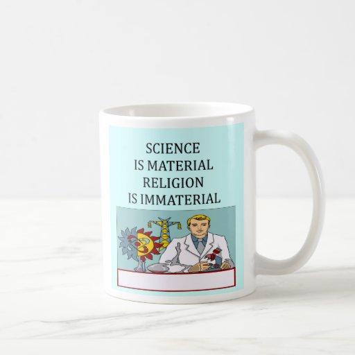 science vs religion joke, science vs religion joke mug