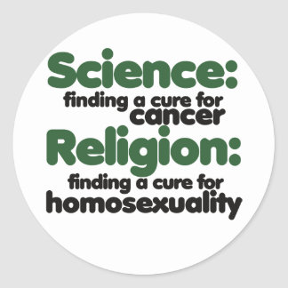 Science VS Religion Round Sticker