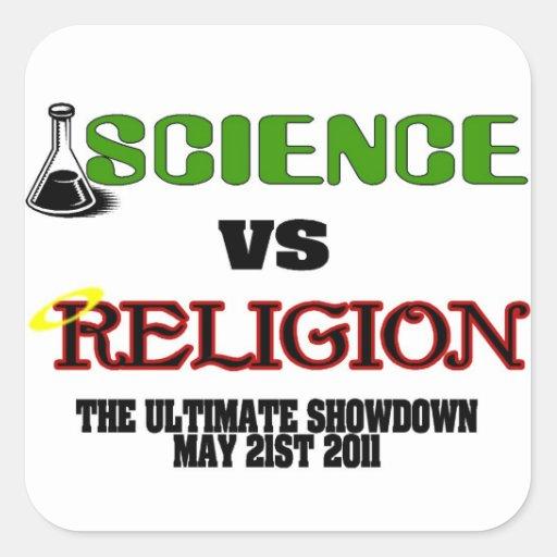 Science vs Religion (The Ultimate Showdown) Sticker