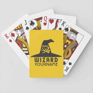 Science Wizard custom color playing cards