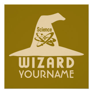 Science Wizard custom color poster