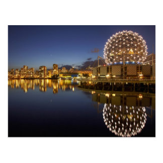 Science World and CBD reflected in False Creek, Postcard