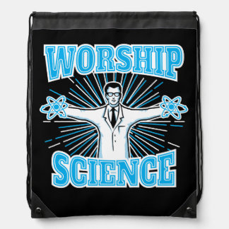 Science Worship Funny Geek & Atheist Anti-Religion Cinch Bag
