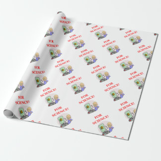 science wrapping paper
