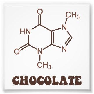 Scientific Chocolate Element Theobromine Molecule Photo Print