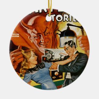 Scientific Devil Round Ceramic Ornament