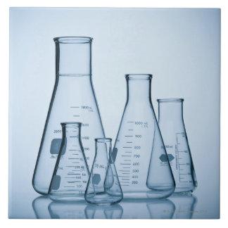 Scientific glassware blue tile