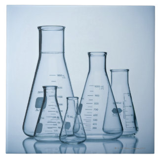 Scientific glassware blue tiles