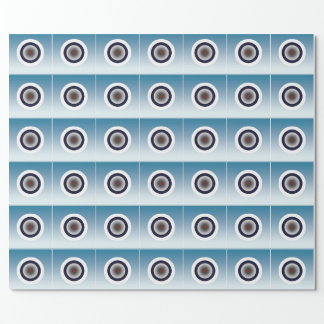 Scientific Looking Dots Wrapping Paper on Blue