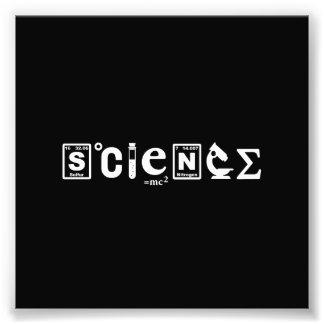 Scientific Symbols Science Photo Print