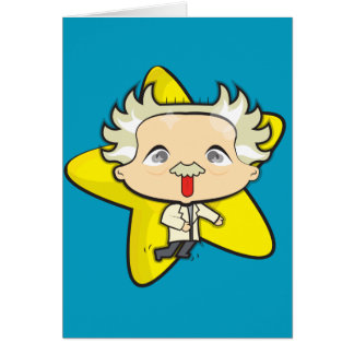 Scientist blue greeting card with envelope