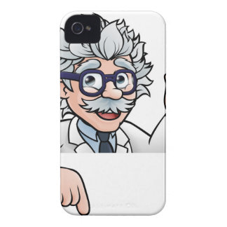 Scientist Cartoon Character Holding Test Tube iPhone 4 Case-Mate Cases