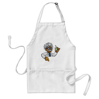 Scientist Cartoon Character Holding Test Tube Standard Apron