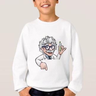 Scientist Cartoon Character Holding Test Tube Sweatshirt