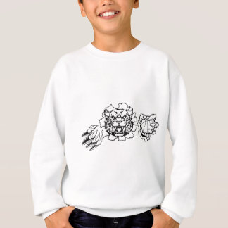 Scientist Cartoon Character Pointing Sign Sweatshirt