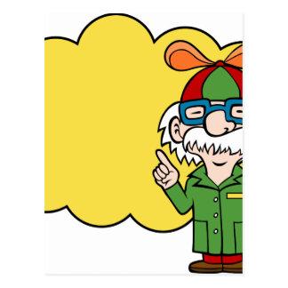 Scientist Cartoon Character Postcard
