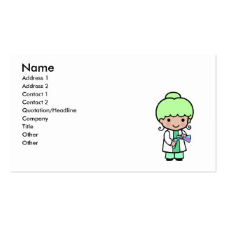 Scientist Girl Business Cards