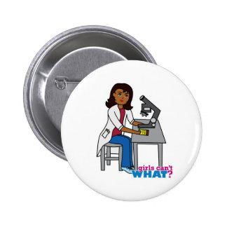 Scientist Girl - Dark Pinback Buttons
