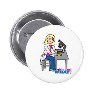 Scientist Girl - Light Blonde Buttons
