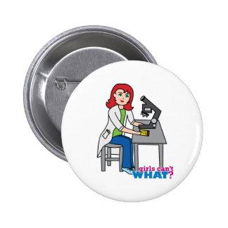 Scientist Girl - Light Red Pins