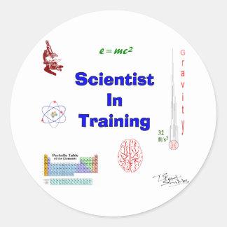 Scientist in Training Classic Round Sticker