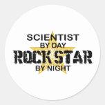 Scientist Rock Star by Night Sticker