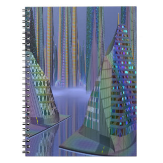 SciFi Scene, the Planet Tamara on spiral notebook