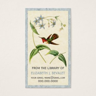 Scintillant Hummingbird Personalized Media Cards
