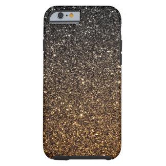 Scintillement de Faux d'Ombre d'or Coque iPhone 6 Tough