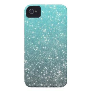 Scintillement d'Ombre d'Aqua Coque iPhone 4