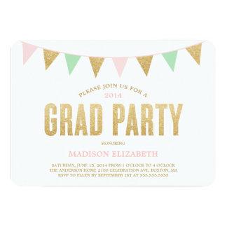 Scintillement donnant un petit coup l'invitation carton d'invitation  12,7 cm x 17,78 cm