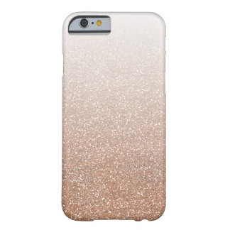 Scintillement rose Ombre de Faux d'or de Champagne Coque iPhone 6 Barely There
