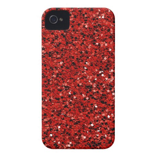 Scintillement rouge coques iPhone 4 Case-Mate