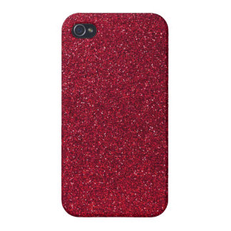 Scintillement rouge coque iPhone 4/4S