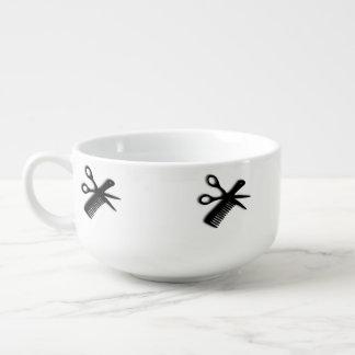 Scissor and Comb Soup Mug