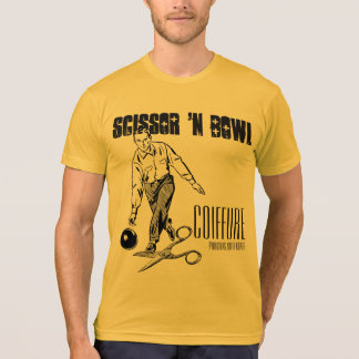 Scissor 'n Bowl Coiffure.  Gold edition. T-Shirt