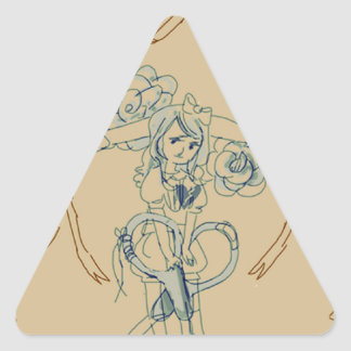 scissors triangle sticker