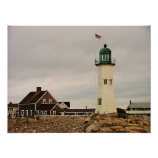 scituate light house poster