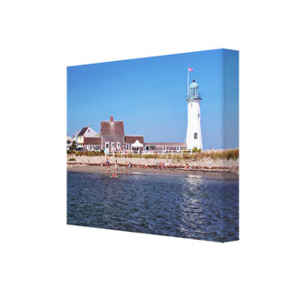 Scituate Lighthouse, Massachusetts Canvas Print