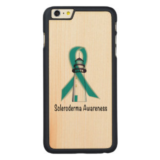 Scleroderma Lighthouse of Hope Carved Maple iPhone 6 Plus Case