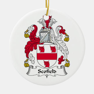 Scofield Family Crest Ceramic Ornament
