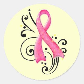 Scoll Pink Ribbon Sticker
