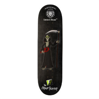 "Scolletta ""The Grind Reaper"" White Deck 093 Custom Skate Board"