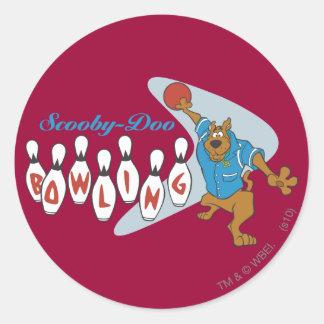 "Scooby Doo ""Bowling""1 Round Sticker"