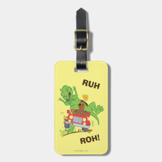 Scooby Doo Dinosaur Attack1 Luggage Tag