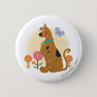 Scooby Doo Following Butterfly1 2 Inch Round Button