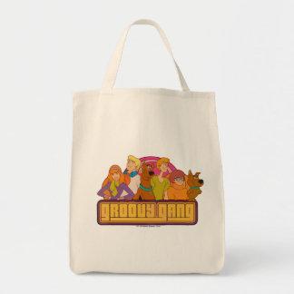 "Scooby-Doo | ""Groovy Gang"" Retro Cartoon Graphic Tote Bag"