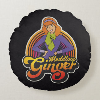 "Scooby-Doo | ""Meddling Ginger"" Daphne Round Pillow"